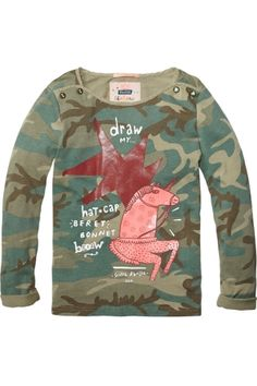 a4d898945486ef Scotch Rbelle T-shirt voor stoere meiden. Te koop bij Koflo.nl Meiden
