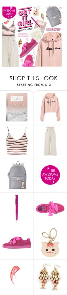 """""""Spring-Summer 17 (Plus Size Chic)"""" by foolsuk ❤ liked on Polyvore featuring Topshop, Brinley Co, WALL, Puma and Furla"""
