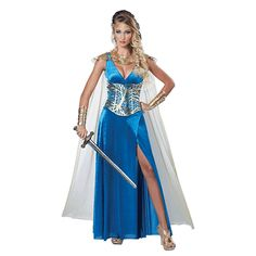 Buy Adult Warrior Queen Costume, available for Next Day Delivery. Prepare for Battle in our Adult Warrior Queen Costume!Outfit includes:DressCorsetShoulder Armor with CapeCuffsThe Costume comes complete with the Floor Len . Costume Queen, Warrior Princess Costume, Adult Princess Costume, Costumes Game Of Thrones, Queen Halloween Costumes, Adult Halloween, Party Fiesta, Warrior Queen, Renaissance Dresses