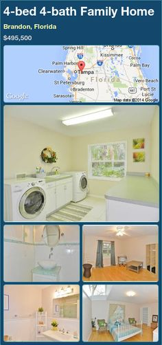 4-bed 4-bath Family Home in Brandon, Florida ►$495,500 #PropertyForSale #RealEstate #Florida http://florida-magic.com/properties/83982-family-home-for-sale-in-brandon-florida-with-4-bedroom-4-bathroom