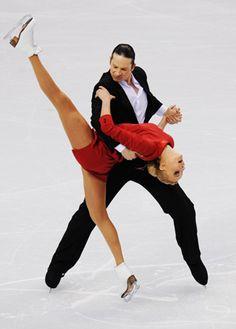 Oksana Domnina & Maxim Shabalin dancing on ice