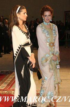 Princess Lalla Salma of Morocco and Queen Ramia of Jordan : Lalla salma #caftan de #luxe #royal