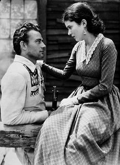 "John Wayne and Marguerite Churchill in ""The Big Trail,"" 20th Century Fox 1930."