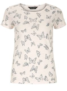 Nude butterfly print tee - Tops & T-Shirts  - Clothing