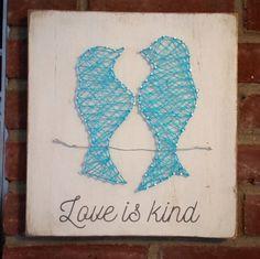 Love Is Kind Love Birds String Art