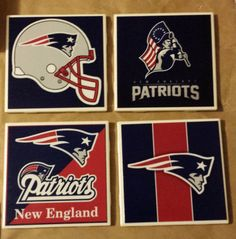 Hey, I found this really awesome Etsy listing at https://www.etsy.com/listing/222809393/new-england-patriots-coasters