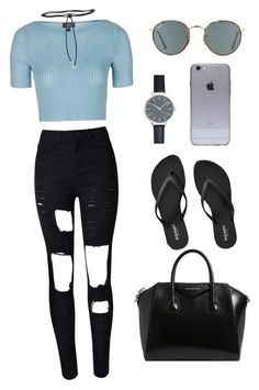 """Outfit #8"" by ancara on Polyvore featuring Topshop, WithChic, Givenchy, New Look, Ray-Ban, Old Navy and Aamaya by Priyanka"