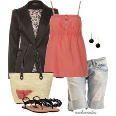 Coral for Summer, created by archimedes16 on Polyvore