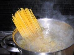 When cooking pasta rub the edge of the pot with butter. The water will not boil over and make a mess on your stove.../have to do this