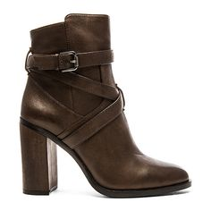 Vince Camuto Garvell Bootie Shoes ($179) ❤ liked on Polyvore featuring shoes, boots, ankle booties, booties, leather ankle boots, short leather boots, buckle booties, leather booties and short boots