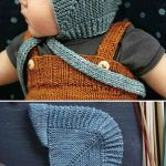 Vintage Baby Bonnet With Visor - Free Knitting Pattern (Beautiful Skills - Crochet Knitting Quilting) Baby Hat Knitting Patterns Free, Free Knitting, Baby Knitting, Free Pattern, Baby Bonnets, Baby Hats, Knitted Hats, Diy Crafts, Quilts
