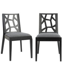 Adrian Side Chairs Gray Pair now featured on Fab.