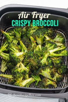 This is the best air fried garlic broccoli recipe in the air fryer! So good, quick & easy air fryer recipe using fresh broccoli. It's a healthy vegetable dish too if you're looking for a keto air fryer recipe or low carb air fried recipe. Air Fryer Oven Recipes, Air Frier Recipes, Air Fryer Dinner Recipes, Air Fryer Chicken Recipes, Air Fryer Recipes Potatoes, Air Fryer Recipes Keto, Air Fryer Recipes Vegetables, Air Fryer Fried Chicken, Air Fryer Chicken Tenders