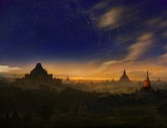 Imagery #1  by Weerapong Chaipuck, via 500px - Base location is thousand-pagoda fields, Bagan ; Myanmar.