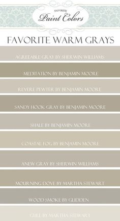 Top 10 Favorite Warm Gray Paint Colors - Favorite Paint Colors