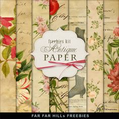 Freebies Kit of Vintage Style Background - Antique Paper