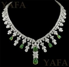 TIFFANY & Co. Diamond and Emerald Necklace