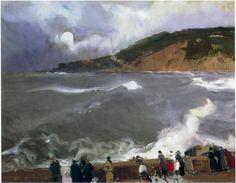 The Breakwater of San Sebastian - Joaquín Sorolla