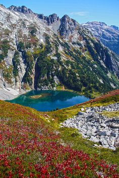 Doubtful Lake from Sahale Trail, Fall. North Cascades National Park | WA