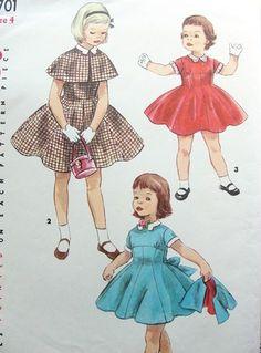 Vintage girls dress patterns