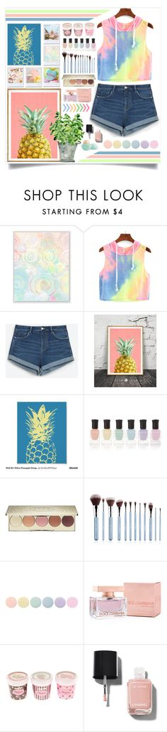 """Rainbow Pineapples"" by angelstylee ❤ liked on Polyvore featuring Zara, Deborah Lippmann, Becca, Dolce&Gabbana, Chanel and Eos"
