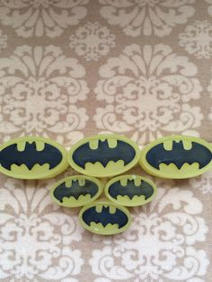 Cute Batman soaps scented with lemongrass essential oil in my Etsy shop https://www.etsy.com/listing/291936285/batman-logo-lemongrass-scented-soaps