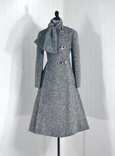 Coat  Pauline Trigère, 1960s  Timeless Vixen Vintage - classic is always in style