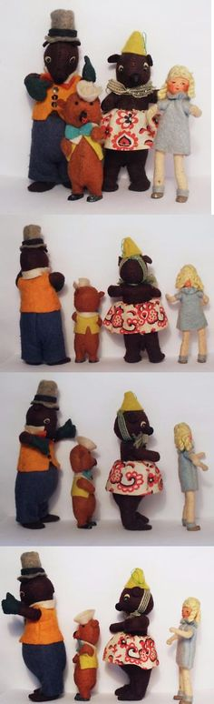 Dolls And Bears: Vintage Baps Goldilocks And The Three Bears ~ Excellent And Rare Early Version -> BUY IT NOW ONLY: $195 on eBay!