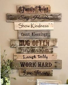 Wood Sign/Family Rules/Family Art/Rustic Wall Decor/Farmhouse Decor/Country Home. Wood Sign/Family Rules/Family Art/Rustic Wall Decor/Farmhouse Decor/Country Home Decor/Family/Inspirational Decor/Rustic/Reclaimed Wood/Gift House Rules Sign, Family Rules Sign, Family Wood Signs, Family Quotes, Rustic Wall Art, Rustic Walls, Wall Art Decor, Wall Wood, Wood Walls