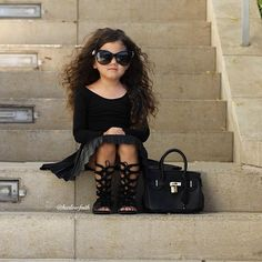 It's a #bighair kinda day for this little fashionista  #KidzfashionModelSearch