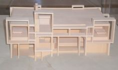 A model of a Paul Rudolph cottage at a show in Sarasota, the Milam residence.