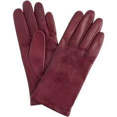 John Lewis Fleece Lined Leather Gloves , Claret (£22) ❤ liked on Polyvore featuring accessories, gloves, claret, fleece lined leather gloves, leather gloves, fleece lined gloves and john lewis