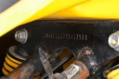 Suzuki LT80 ATV VIN Location