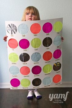 Punch Board Countdown Calendar. I want one for a different holiday besides Christmas... maybe Valentine's Day?