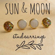 A personal favorite from my Etsy shop https://www.etsy.com/listing/235526604/sun-moon-earring-set-gold-and-pearl