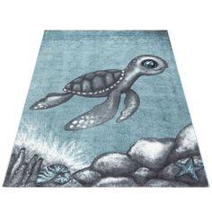 Lasten Kilpikonna plyysimatto sininen - Tuppu-Kaluste Bambi, Whale, Kids Rugs, Artwork, Animals, Decor, Super, Products, Flowers