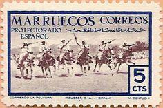 Sello Protectorado Español en Marruecos - Portal Fuenterrebollo