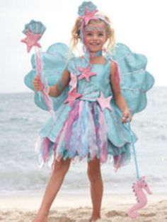 Pretty pink and blue ocean fairy from Chasing Fireflies.com