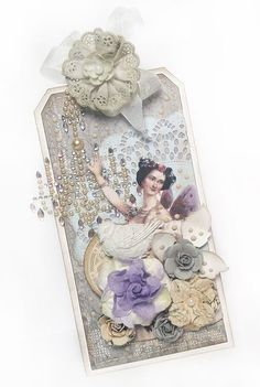 Beautiful Fairy Belle tag by Karola Witczak using the Fairy Belle Collection by Jodie Lee for Prima Marketing.