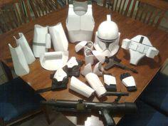 Clone trooper from cardboard.