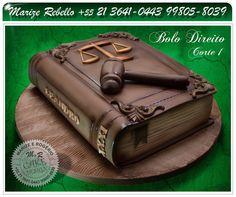 sculpture cake book Bolo escultura tema: Direito.