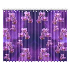 Purple Orchids Window Curtain. More sizes available. FREE Shipping. #erikakaisersot #artsadd #windowcurtains