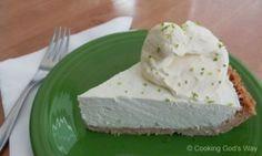 healthy no-bake key lime pie