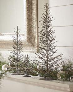Hand-made natural metal Christmas trees