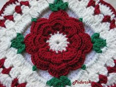 Pretty crocheted potholder