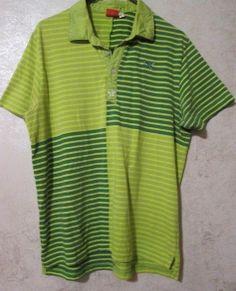 PUMA SPORT Life Style SHORT SLEEVE GOLF SHIRT Size LARGE green/Green