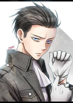 Levi! Attack on Titan. O///O hot!.....-on the side note, anyone else reminded a little of Roy Mustang from FullMetal Alchemist?