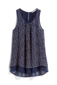 Daniel Rainn Blue Print Sleeveless Blouse - Stitch Fix Style Shuffle Game - Affiliate Link Included Fall Outfits, Summer Outfits, Cute Outfits, Fashion Outfits, Modelos Fashion, Stitch Fit, Stitch Fix Outfits, Stitch Fix Stylist, Printed Blouse