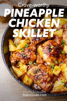 Diet Recipes, Cooking Recipes, Healthy Recipes, Easy Paleo Meals, Easy Skillet Meals, Simple Meals, Cooking Gadgets, Pizza Recipes, Pineapple Chicken Recipes