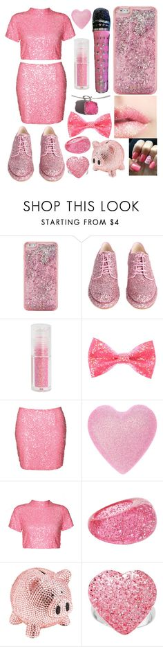 """""""Barbie sparkling pink"""" by storypainter ❤ liked on Polyvore featuring ban.do, Simone Rocha, Hot Topic, Nicole, Vila Milano, Boohoo, Aéropostale, Trumpette and Kirsty Taylor"""